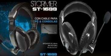 AURICULARES NOGA ST-1688 STORMER GAMER MIC 3,5MM PC + PS4