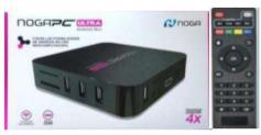 NOGA PC ULTRA ANDROID BOX QUAD-CORE CORTEX A7 -1GB RAM HD 8 GB 4 USB HDMI REMOTO