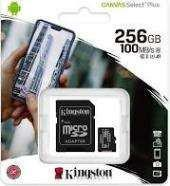 MEMORIA KINGSTON MICRO SD 256 GB CANVAS SELEC PLUS 100 MB/S